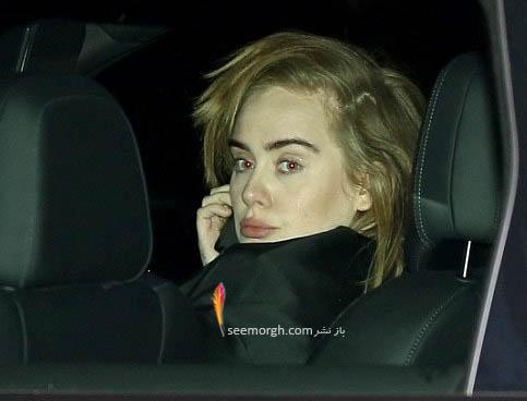 چهره ادل در اتومبیل