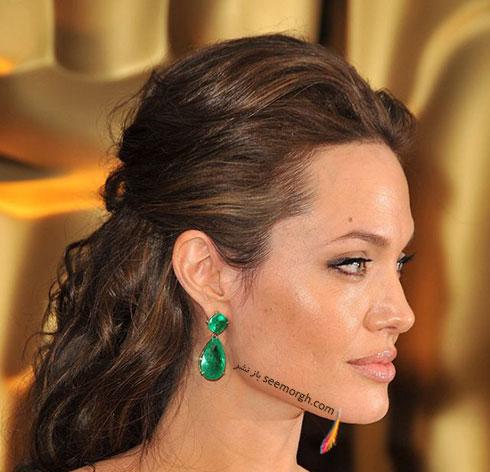 مدل مو آنجلینا جولی Anjelina Jolie در مراسم اسکار 2009