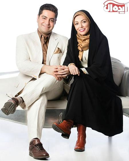 آزاده نامداری در کنار همسرش سجاد عبادی