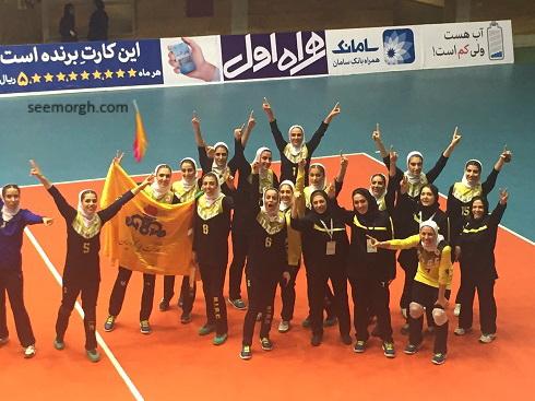 عکس والیبال گاز تهران