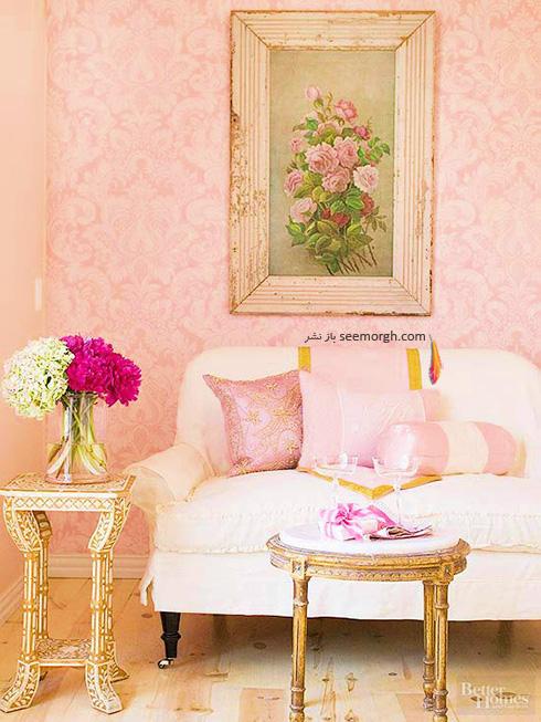 for Red flower wallpaper living room