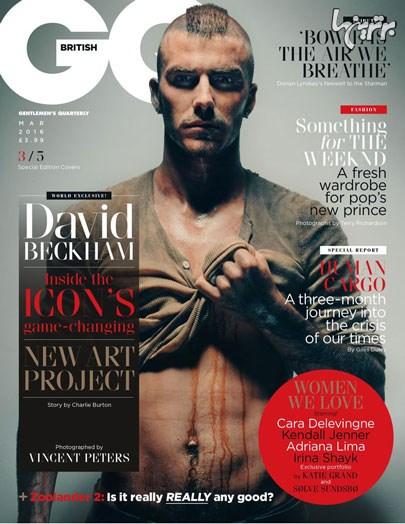بهترین عکس های دیوید بکهام روی مجله GQ - عکس شماره 4