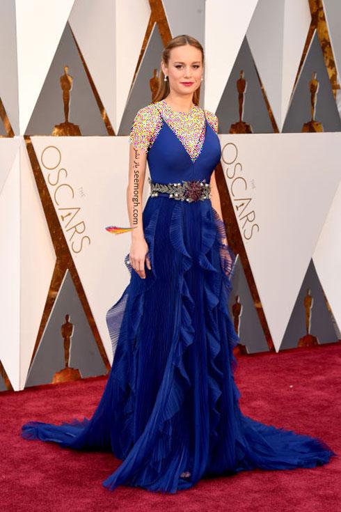 مدل لباس بری لرسون Brie Larson در اسکار 2016