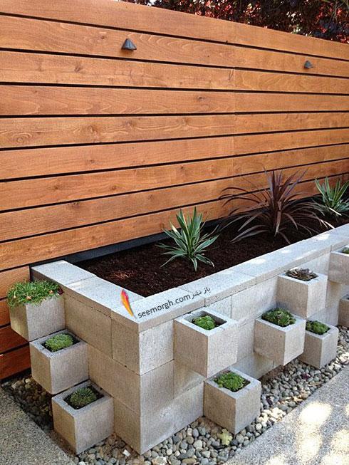 با بلکو های سیمانی یک باغچه طبقاتی کنار حیاط تان درست کنید