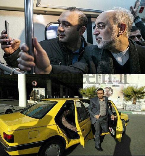 ابتکار با تاکسی به محل کار رفت + عکس