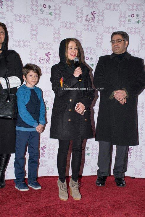 مدل لباس النازحبیبی در نهمین روز سی و چهارمین جشنواره فیلم فجر
