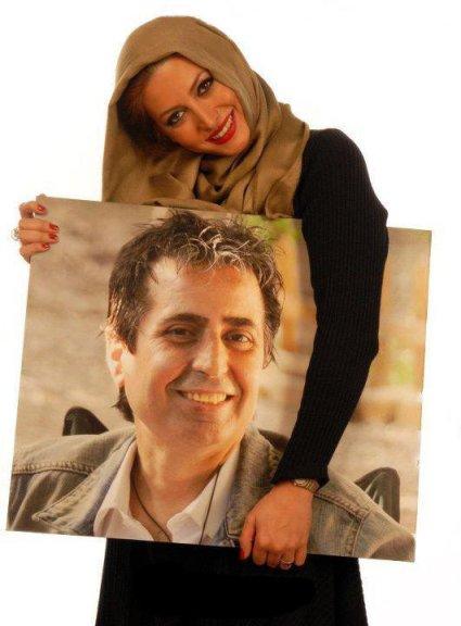 فریبا نادری و عکس همسرش مسعود رسام