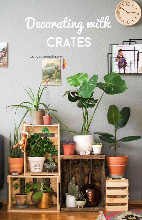 با جعبه های خالی یک باغ آپارتمانی درست کنید