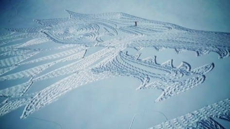 خلق اثر هنری با 13ساعت پیاده روی
