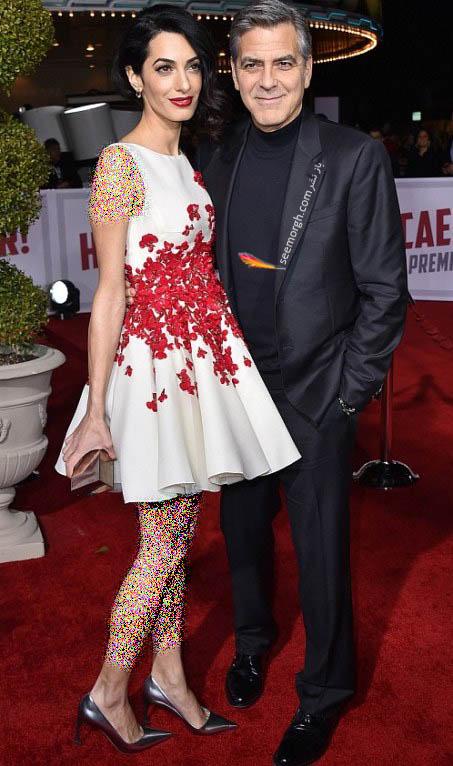 عکس جدید جورج کلونی و همسرش