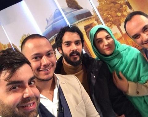 احسان کرمی, گلوریا هاردی و همسرش ساعد سهیلی