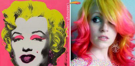 رنگ موی خاص با الهام از نقاشی 5