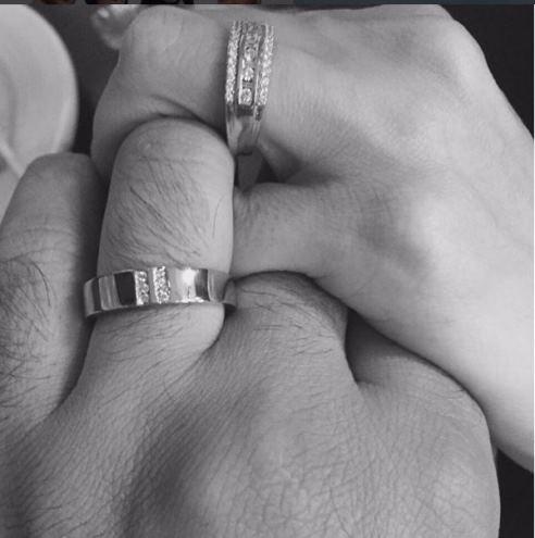 عکس حلقه ازدواج آزاده نامداری