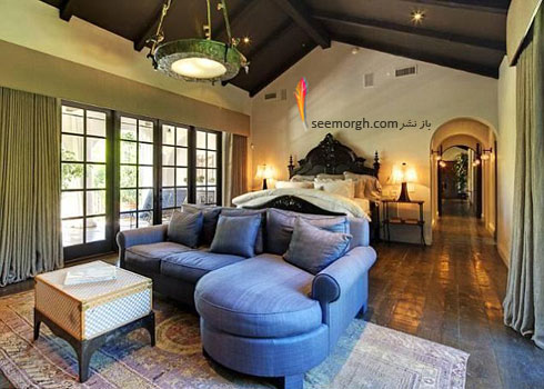 دکوراسیون اتاق خواب خانه هیلاری داف Hilary Daff