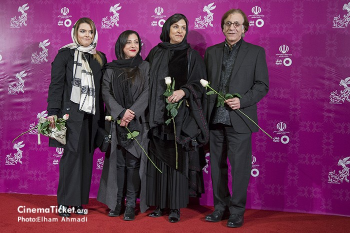 مسعود رایگان، رویا تیموریان و دخترانش در جشنواره فیلم فجر34