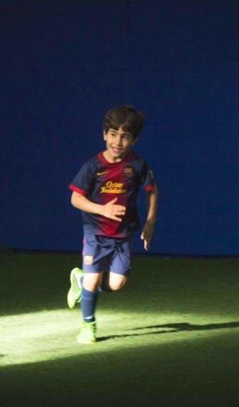 عکس فوتبالیست ایرانی در بارسلونا