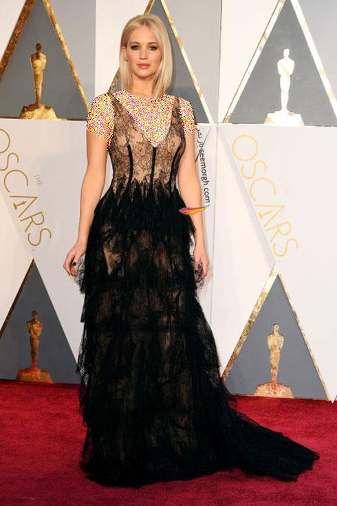 مدل لباس جنیفر لارنس Jennifer Lawrence در اسکار 2016
