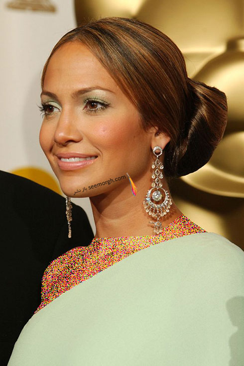 مدل مو جنیفر لوپز Jennifer Lopez در مراسم اسکار 2003