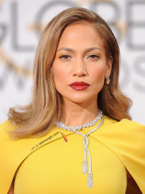 مدل موی جنیفر لوپز Jennifer Lopez در گلدن گلوب 2016