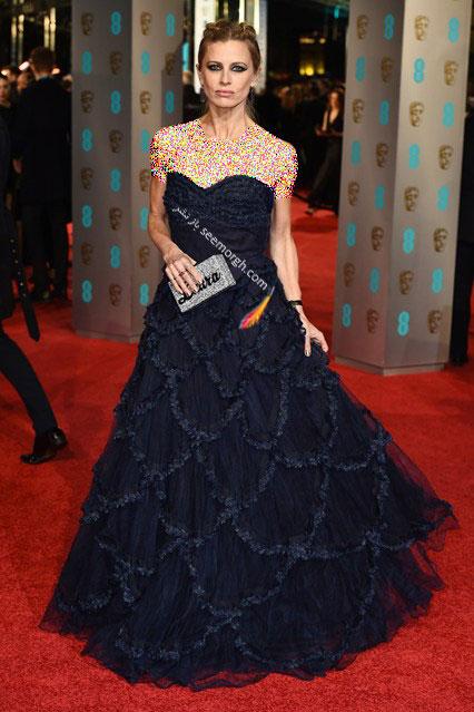 مدل لباس لورا بیلی Laura Bailey در مراسم بفتا Bafta 2016