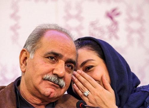 درگوشی حرف زدن مریلا زارعی و پرویز پرستویی در نشست خبری جشنواره