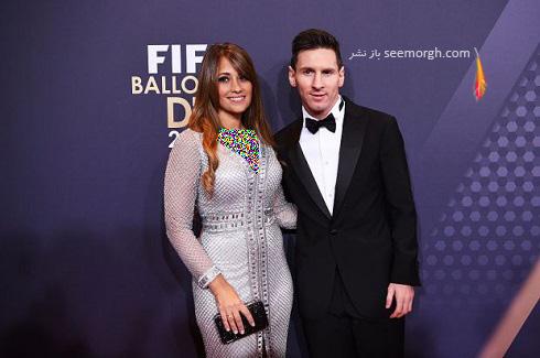 مسی و همسرش