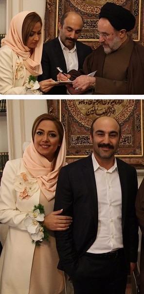 عقد محسن تنابنده و همسرش توسط حجتالاسلام والمسلمین محمد خاتمی