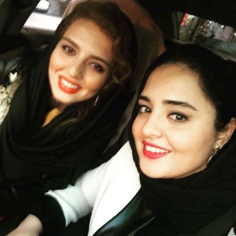 عکس نرگس محمدی در کنار خواهرش