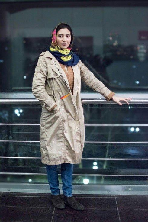 مدل لباس نیکی مظفری در هشتمین روز سی و چهارمین جشنواره فیلم فجر
