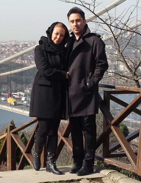 نیما مسیحا و همسرش
