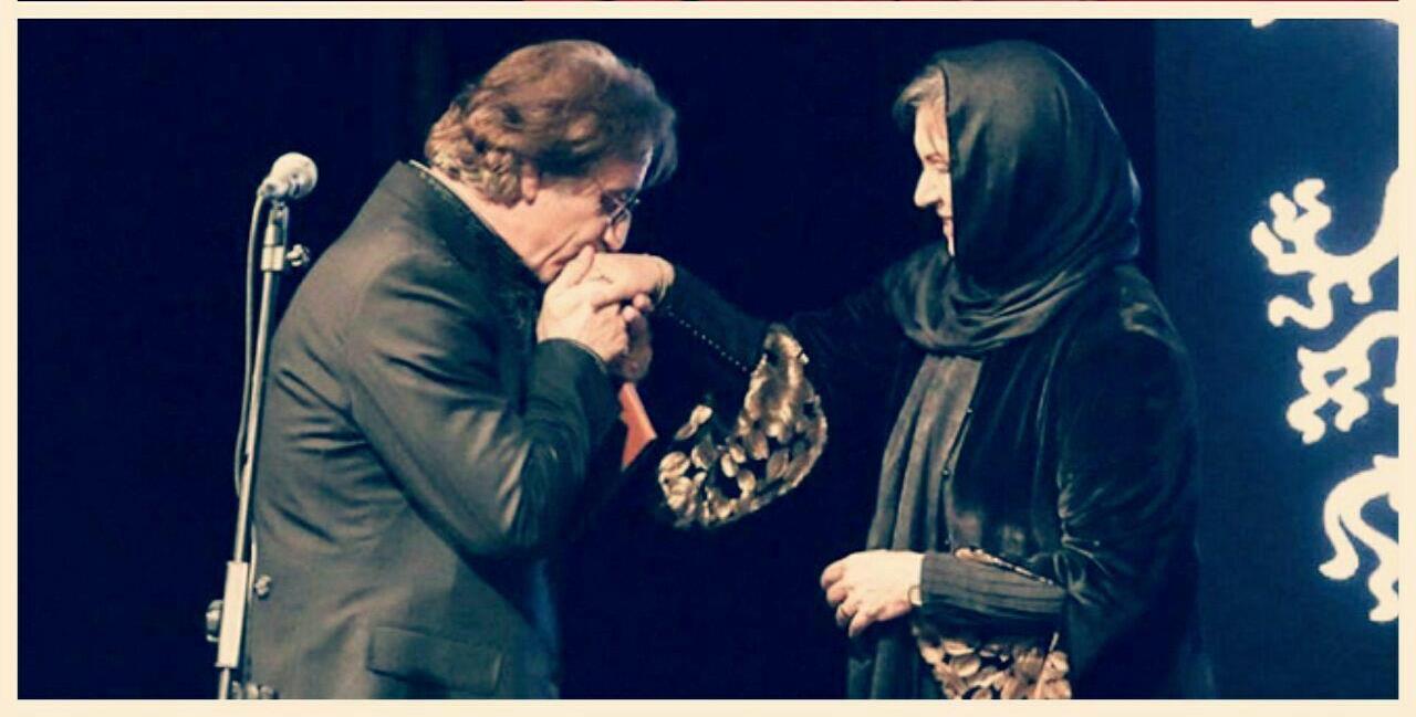 مسعود رایگان و همسرش رویا تیموریان در جشنواره فیلم فجر34