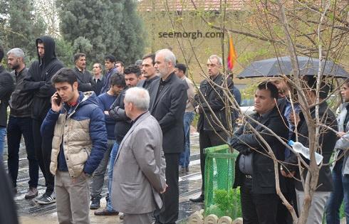 مراسم تشییع پیکر رضا ابراهیمی