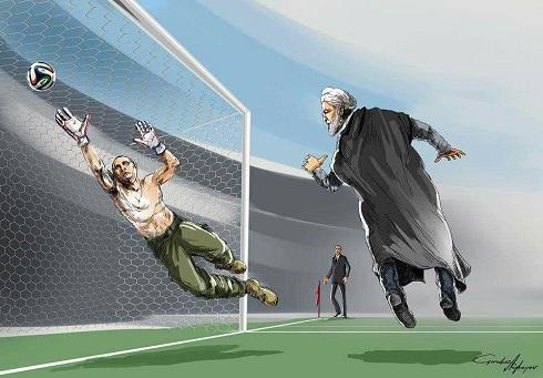 واکنش کاریکاتوریست آذربایجانی به