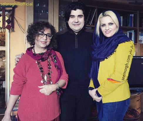 سالار عقیلی و همسرش در کنار سیما بینا