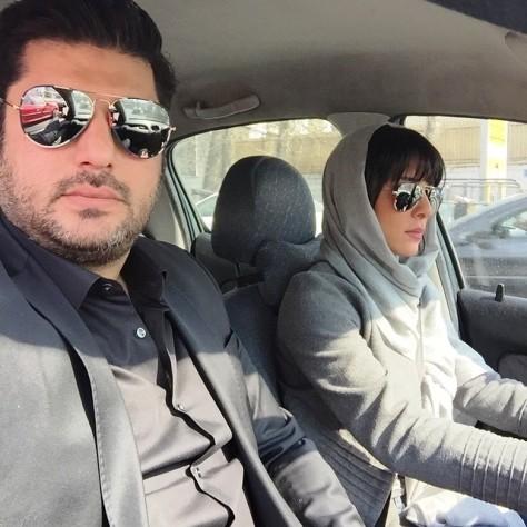 عکس سلفی سام درخشانی و همسرش در اتومبیل شان!