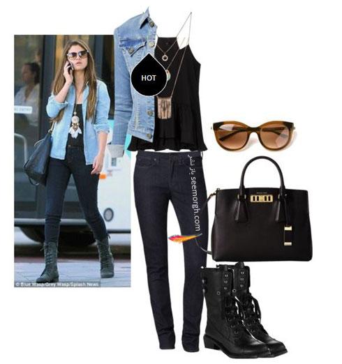 ست کردن شلوار جین به سبک سلنا گومز Selena Gomez - ست شماره 8