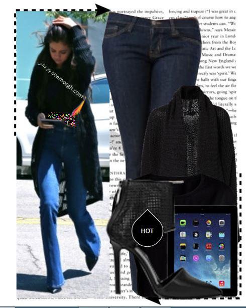 ست کردن شلوار جین به سبک سلنا گومز Selena Gomez - ست شماره 10