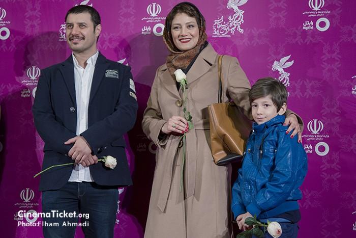 مدل لباس شبنم مقدمی و جواد عزتی در سی و چهارمین جشنواره فیلم فجر