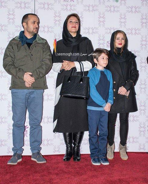 مدل لباس شبنم مقدمی در نهمین روز سی و چهارمین جشنواره فیلم فجر
