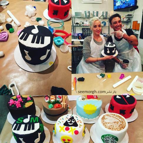 شادمهر عقیلی و همسرش درحال پختن کیک!