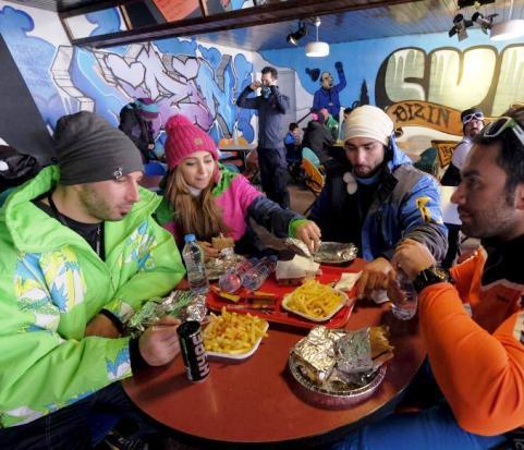 عکس هایی از پوشش زنان در پیست اسکی دیزین