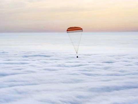 فضاپیمای سایوز برفراز ابرها