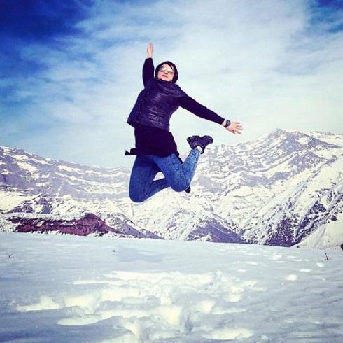 عکس پرش فوق العاده لیلا رجبی