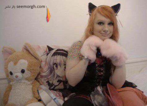 دختری که مانند گربه زندگی می کند