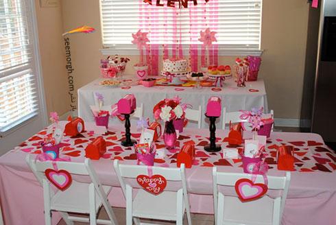 تزیین میز ناهارخوری با قلب های قرمز برای کسانی که دوست شان دارید - مدل شماره 5