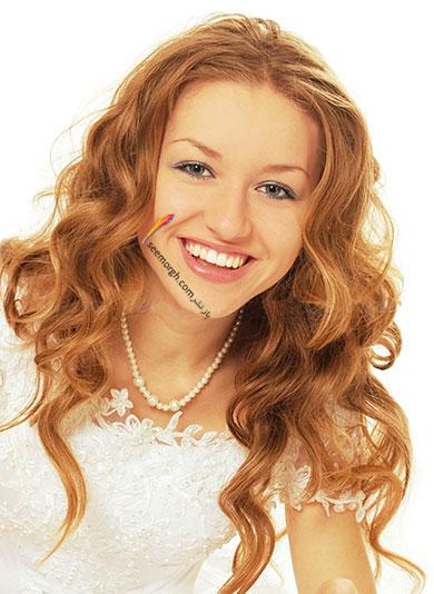 مدل موی باز برای مدل مو عروس - مدل شماره 1