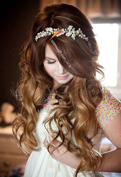 مدل موی باز برای مدل مو عروس - مدل شماره 6