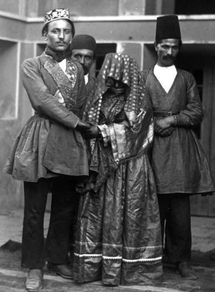 عروس و داماد در زمان قاجار