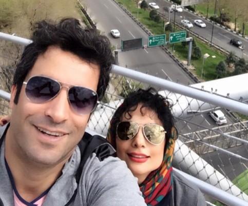 سلفی جدید یکتا ناصر و همسرش