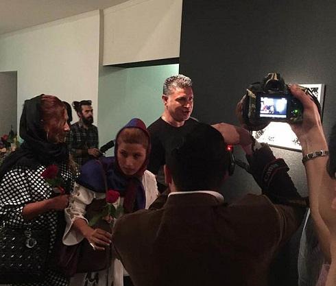 علی دایی و همسرش در نمایشگاه تهمینه میلانی